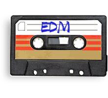 EDM - Electronic Dance Music cassette tape Canvas Print