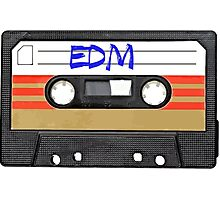 EDM - Electronic Dance Music cassette tape Photographic Print