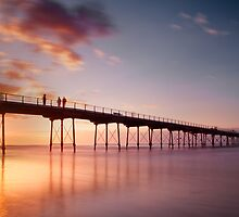 Salburn Pier Sunset by pixelda