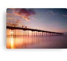 Salburn Pier Sunset Canvas Print
