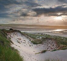 Budle Bay Sunset by pixelda