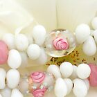 pink roses in glass beads by poshbeads