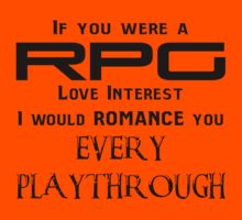 If you were a RPG Love interest.... by Dorchette