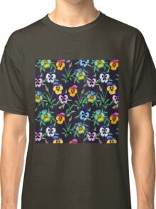 Pansy violet pattern Classic T-Shirt
