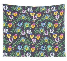 Pansy violet pattern Wall Tapestry