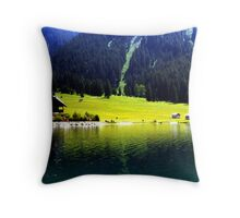 Austrian Alps Throw Pillow