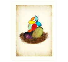 My Colorful Bird Babies Art Print