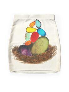 My Colorful Bird Babies Mini Skirt