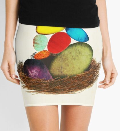 My Colorful Bird Babies Mini Skirt