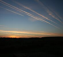 Jet trails in the morning by briggs86