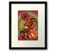 Tha magical space journey Framed Print