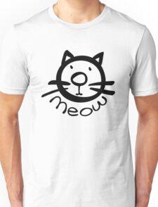 Meow kitty cat Unisex T-Shirt