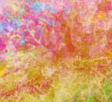 Abstract Flower Design in Aqua, Pink, Yellow, Green Sticker