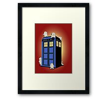 ADIPOSES CONQUERS THE TARDIS  Framed Print