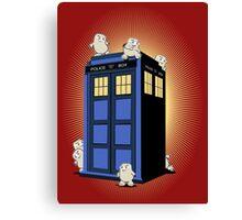 ADIPOSES CONQUERS THE TARDIS  Canvas Print