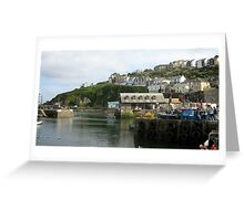 Harbour in the light Greeting Card