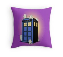 ADIPOSES CONQUERS THE TARDIS  Throw Pillow