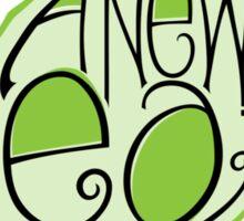 Go Green Leaf T-shirt Sticker