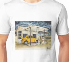 Taxi at Abandoned Petrol Station Unisex T-Shirt