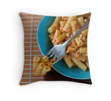 Pasta with ragú Throw Pillow