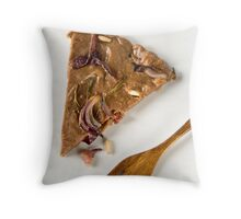 Savoury castagnaccio Throw Pillow