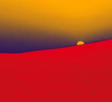 sunset in red Sticker
