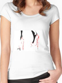 Red Shoes Women's Fitted Scoop T-Shirt