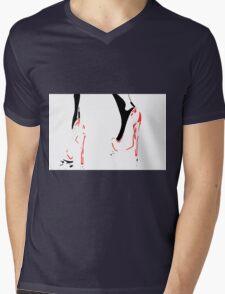 Red Shoes Mens V-Neck T-Shirt