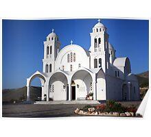 Pure White for Worship ~ Paros Poster