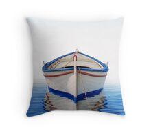 Greek Boat Throw Pillow