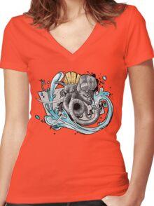 Ganesh Addict Women's Fitted V-Neck T-Shirt