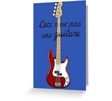 Ceci n´est pas une guitare ver.2 Greeting Card