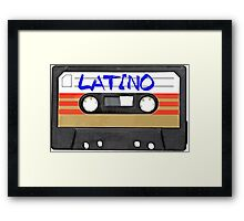 Latino - Latin Music Cassette Tape Framed Print