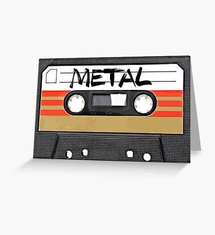 Heavy metal Music band logo Greeting Card
