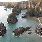 Bedruthan Steps - Cornwall by Tina Martin
