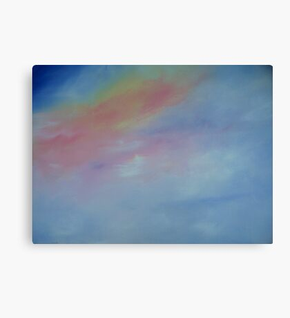 Sunset  Clouds Abstract Canvas Print