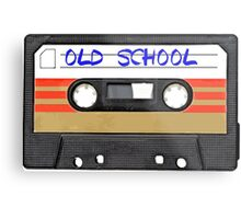 Old School Music Cassette Tape Metal Print