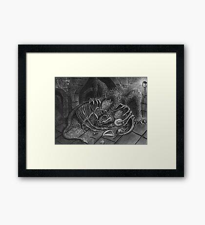 The Dragon Smaug Framed Print