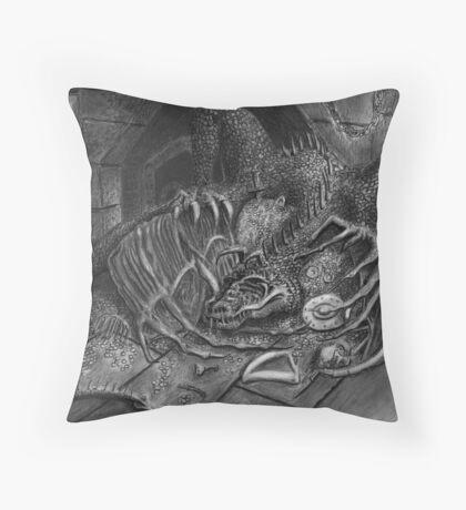 The Dragon Smaug Throw Pillow