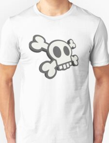 Funky Cartoon Skull & Crossbones Unisex T-Shirt