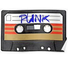PUNK Music band logo in Cassette Tape Poster