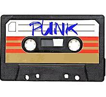 PUNK Music Cassette Tape Photographic Print