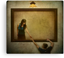 I won't let you fall out of the picture. Canvas Print