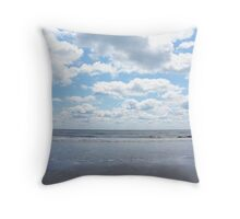 Serene Beach Scene Throw Pillow
