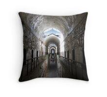 Penitentiary Corridor Throw Pillow