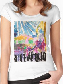 Carnival Stalls Women's Fitted Scoop T-Shirt