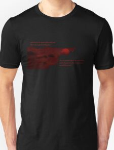 Red Moon with Text T-Shirt