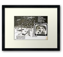 moon base Framed Print
