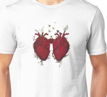 two hearts beating as one Unisex T-Shirt