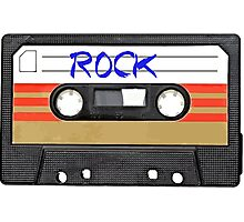 Rock and Roll Music - Cassette Tape - Awesome iphone case Photographic Print